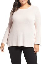 Vince Camuto Tipped Pullover (Plus Size)