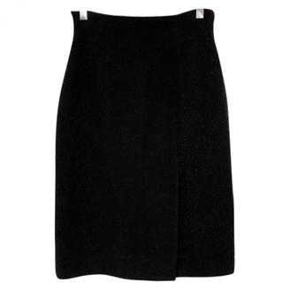 Herve Leger Black Wool Skirt for Women