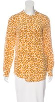 3.1 Phillip Lim Silk Leopard Print Top