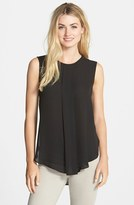 Vince Camuto Women's Center Pleat Sleeveless Blouse