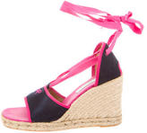 Anya Hindmarch Canvas Espadrille Wedges