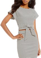 GB Striped Tie-Front Top