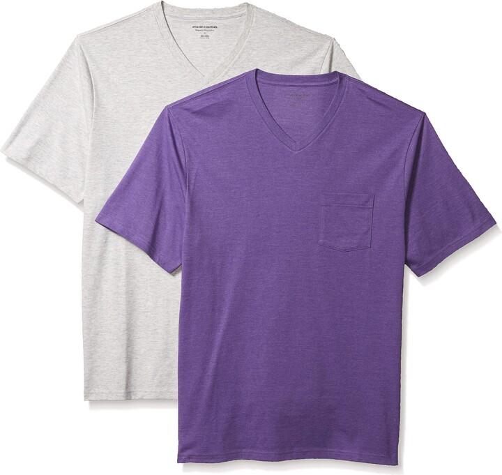 Essentials Mens 2-Pack Regular-fit Crew Pocket T-Shirt