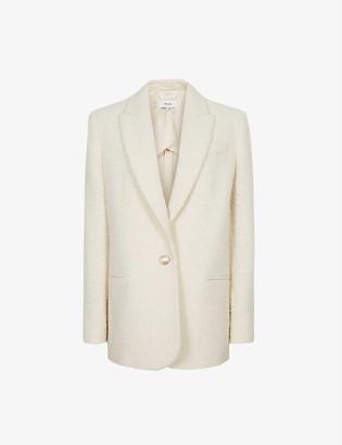 Reiss Malia single-breasted boucle blazer