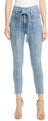 Alice + Olivia Good Tie High Waist Skinny Jeans