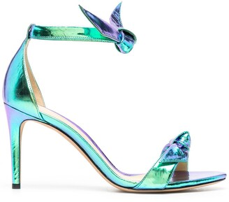 Alexandre Birman Metallic-Tone Heeled Sandals