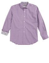 Thomas Dean Boy's Geo Check Dress Shirt