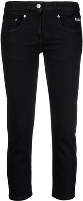 MSGM Cropped Skinny Jeans