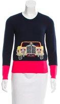 Celine Intarsia Cashmere Sweater