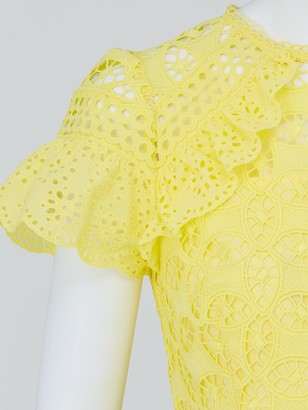 Very Lace Frill Skater Dress