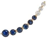 Anita Ko Floating Diamond and Blue Sapphire Earring
