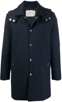 MACKINTOSH DUNOON HOOD Navy Storm System Wool THINDOWN Short Hooded Coat|GM-1004TD