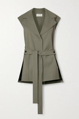 GAUCHERE Romie Belted Stretch-wool Vest - Beige