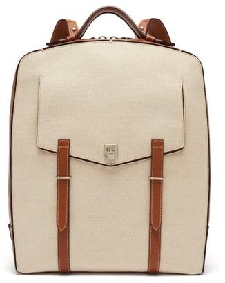 Metier - Rider Linen-canvas Backpack - Beige