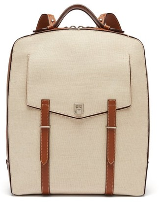 BEIGE Metier - Rider Linen-canvas Backpack - Mens