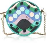 Emilio Pucci Printed Eco Leather Round Purse w/Chain Strap