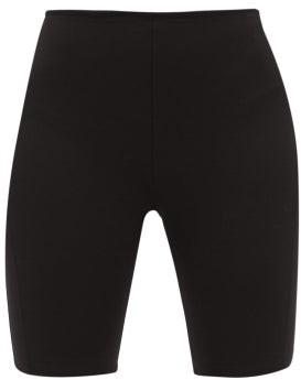 Paco Rabanne Logo-intarsia Jersey Cycling Shorts - Black