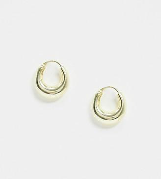 Kingsley Ryan Exclusive sterling silver gold plated thick hoop earrings