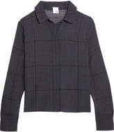 Iris and Ink Estrella cropped checked woven shirt