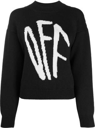 Off-White Graffiti logo intarsia jumper