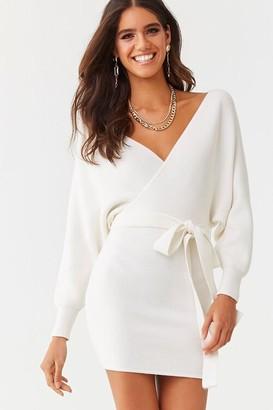 Forever 21 Faux Wrap Mini Dress