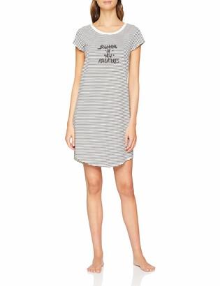 Skiny Women's Nostalgic Summer Sleep Sleepshirt Kurzarm Nightie