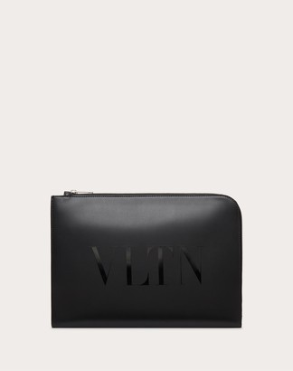 Valentino Uomo Vltn Leather Briefcase Man Black Bovine Leather 100% OneSize
