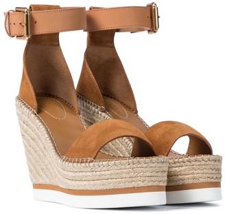 See by Chloe Glyn suede wedge espadrille sandals
