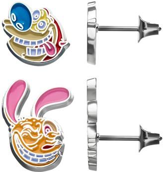 Nickelodeon Ren & Stimpy Stud Earrings