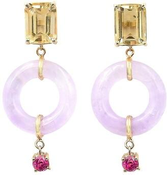 BONDEYE JEWELRY 14kt Yellow Gold Emerald Cut Munchkin Jelly Earrings