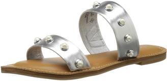 Rampage Women's Mindy Two-Band Pearl Slide Sandal