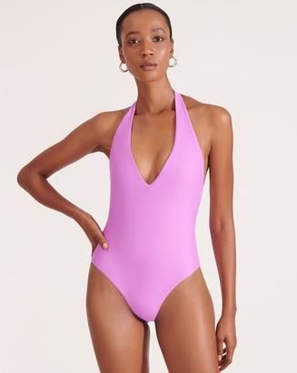 Veronica Beard Salis Halter Swimsuit