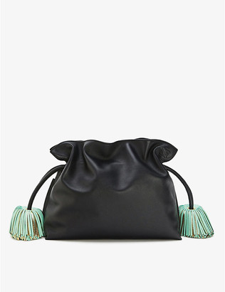 Loewe Flamenco tasselled leather clutch