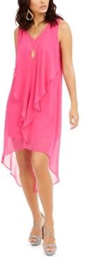 Thalia Sodi Ruffled High-Low Necklace Dress, Created for Macy's