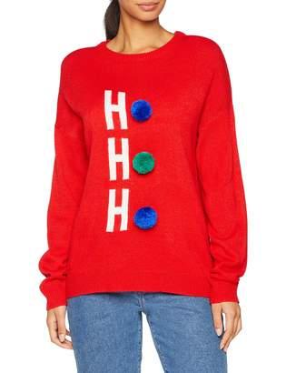 Brave Soul Women's Christmas HOHOPOM Jumper