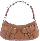 Christian Dior Gathered Leather Shoulder Bag