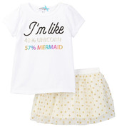 Ten Sixty Sherman I&m Like Top & Mesh Tutu Set (Toddler & Little Girls)