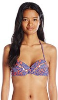 Bikini Lab Women's Pedal To The Medal-Lion Push Up Underwire Bikini Top