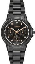 Citizen Silhouette Swarovski Crystal Studded Stainless Steel Bracelet Watch