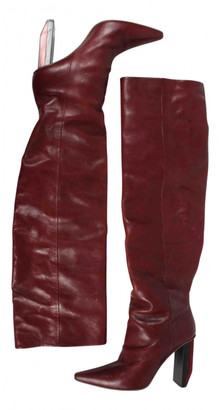 Vetements Red Leather Boots