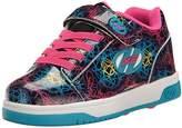 Heelys Girls' Dual up x2 Sneaker, Black/Cyan/Multi, Little Kid
