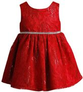 Youngland Baby Girl Red Crochet Lace Dress