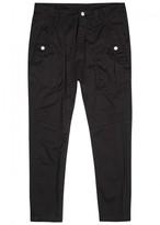 Helmut Lang Black Stretch Cotton Trousers