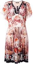 Roberto Cavalli floral print shift dress - women - Silk/Modal/Virgin Wool - 46