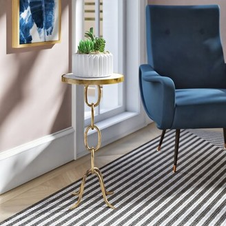 Ivy Bronx Lundin Stacked Chain End Table Color: Antique Pewter