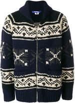Junya Watanabe fair isle zipped sweater