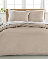 Sunham CLOSEOUT! Cotton Linen King Duvet Cover 3-Piece Set