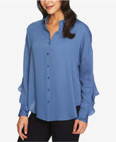 1 STATE 1.STATE Ruffled Split-Back Blouse