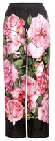 Dolce & Gabbana Floral-printed silk trousers
