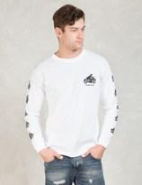 HOMBRE Nino White Motorcycle Print L/S T-shirt